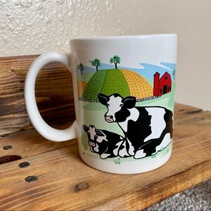 Vintage 1998 Cow Coffee Mug Cup
